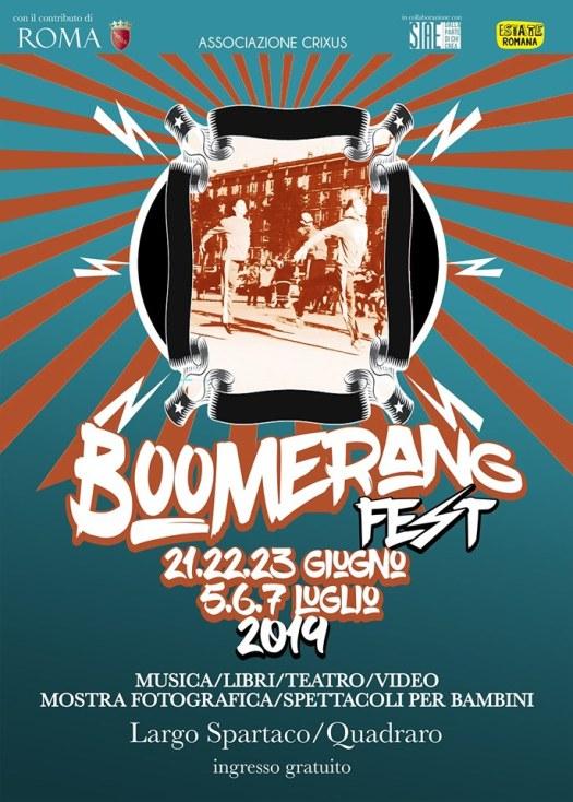 Locandina Boomerang Fest 2019